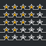 Vector modern stars rating set on black. Background. Eps10 Royalty Free Stock Images
