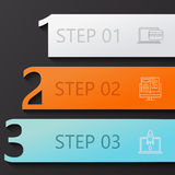 Vector modern 3 steps infographics Stock Images