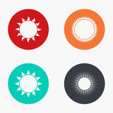 Vector modern sun colorful icons set. On white background Stock Photo