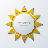 Vector modern sun icon background on white Royalty Free Stock Images