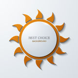 Vector modern sun icon background on white Stock Image