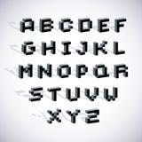 Vector modern tech alphabet letters set. Stock Photo