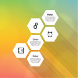 Vector modern template. Septagon mosaic Royalty Free Stock Images