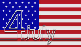 Vector modern 4th july background. Royalty Free Stock Image