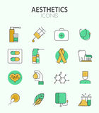 Vector modern thin line flat design of icons set Stock Photography