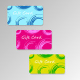Vector modern three gift cards Stock Photos