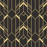 Abstract art deco seamless pattern. Vector modern tiles pattern. Abstract art deco seamless monochrome background Stock Photo