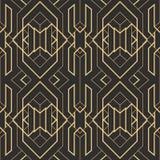 Abstract art deco modern tiles pattern. Vector modern tiles pattern. Abstract art deco seamless monochrome background stock illustration