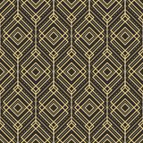Abstract art deco pattern background tiles. Vector modern tiles pattern. Abstract art deco seamless monochrome background Royalty Free Stock Photos