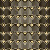 Abstract art deco seamless modern tiles pattern. Vector modern tiles pattern. Abstract art deco seamless monochrome background Stock Photo