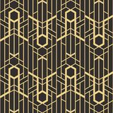 Abstract art deco Vector modern tiles pattern. Vector modern tiles pattern. Abstract art deco seamless monochrome background Royalty Free Stock Photo