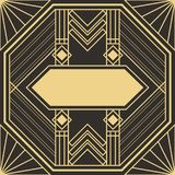 Template Abstract art deco Royalty Free Stock Image