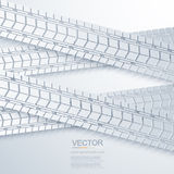 Vector modern trace of the tire background Stock Images