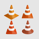 Vector modern traffic cones icons set Stock Photo