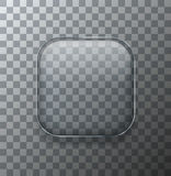 Vector modern transparent square glass plate Royalty Free Stock Photography