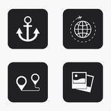 Vector modern travel  icons set Stock Images
