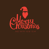 Vector modern trendy retro hand drawn calligraphic Merry Christmas Royalty Free Stock Photography