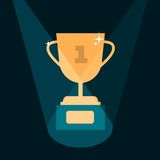 Vector modern trophy illustration Royalty Free Stock Images