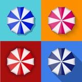 Vector modern umbrella icons set Stock Image