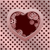 Vector modern valentines day background. Royalty Free Stock Photography