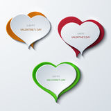 Vector modern valentines day banners background. Heart icons. Stock Photo