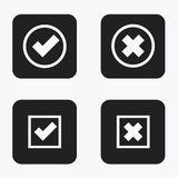 Vector modern vote  icons set Royalty Free Stock Photos