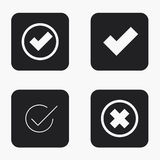 Vector modern vote  icons set Stock Images