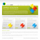 Vector Modern web page template. Green version Royalty Free Stock Photos