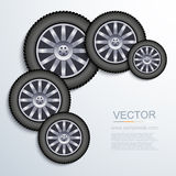Vector modern wheels background. Royalty Free Stock Image