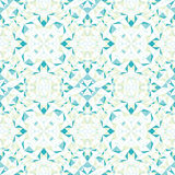 Vector Modern White Blue Green Abstract Geometric Textured Seamless Pattern Background. Great for elegant texture fabric Stock Images