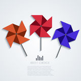Vector modern windmill background. Royalty Free Stock Photos