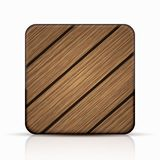 Vector modern wooden icon Royalty Free Stock Image