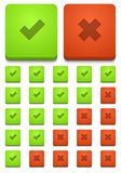 Vector modern yes and no icons set Royalty Free Stock Photos