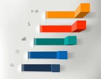 Vector moderne bedrijfsstappen aan succesgrafieken en Stock Foto's