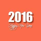 Vector Moderne eenvoudige Gelukkige nieuwe jaarkaart 2016 Royalty-vrije Stock Foto