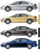 Vector moderne geïsoleerdez auto Royalty-vrije Stock Foto's