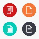 Vector moderne geplaatste dossier kleurrijke pictogrammen Stock Fotografie