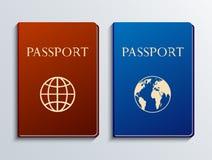 Vector moderne geplaatste paspoorten Stock Foto