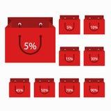 Vector moderne het winkelen geplaatste pictogrammen Stock Foto's