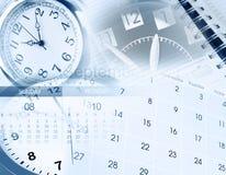 Vector moderne illustratie in vlakke stijl met de mannelijke chronometer van de handholding Stock Afbeelding