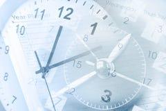 Vector moderne illustratie in vlakke stijl met de mannelijke chronometer van de handholding Royalty-vrije Stock Fotografie