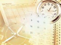 Vector moderne illustratie in vlakke stijl met de mannelijke chronometer van de handholding Stock Foto's