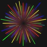 Vector moderne kleurrijke vuurwerkachtergrond Stock Afbeeldingen
