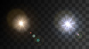 Vector moderne lichte flits op steekproefachtergrond Stock Afbeelding