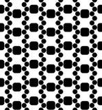 Vector moderne naadloze DNA van het meetkundepatroon, zwart-witte samenvatting Stock Afbeeldingen