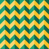 Vector moderne nahtlose bunte Geometriesparrenlinien Muster, Farbgrüne gelbe Zusammenfassung Lizenzfreies Stockfoto
