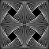 Vector moderne nahtlose Geometriemusterlinie Kunst, Schwarzweiss-Zusammenfassung Lizenzfreie Stockbilder