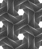 Vector moderne nahtlose Geometriemusterlinie Kunst, Schwarzweiss-Zusammenfassung Stockfoto