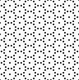 Vector moderne nahtlose Geometriemusterpunkte, Schwarzweiss-Zusammenfassung stock abbildung