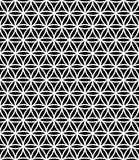 Vector moderne nahtlose heilige Geometriemusterblume des Lebens, Schwarzweiss-Zusammenfassung Stockfoto